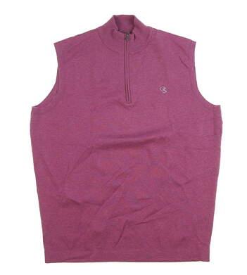 New W/ Logo Mens Peter Millar Crown Sport Golf Vest Medium M Pink MSRP $175 MS17ES02