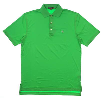 New W/ Logo Mens Peter Millar Summer Comfort Golf Polo Small S Green MSRP $85 MS17EK01