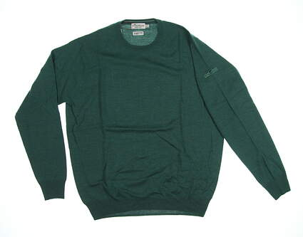 New W/ Logo Mens Peter Millar Crown Soft Golf Sweater Medium M Green MSRP $160 MF17S42