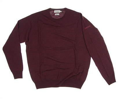 New W/ Logo Mens Peter Millar Crown soft Golf Sweater Medium M Maroon MSRP $160 MF17S42