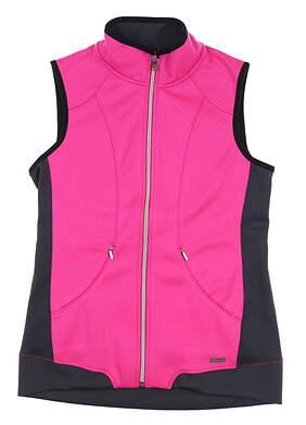 Womens SUNICE Golf Vest Small S Pink/Charcoal S64500 MSRP $90