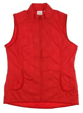 New Womens EP Pro Golf Vest Medium M Red MSRP $60 6220GB