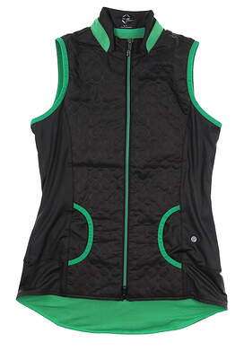 New Womens EP Pro Golf Vest Small S Black MSRP $118