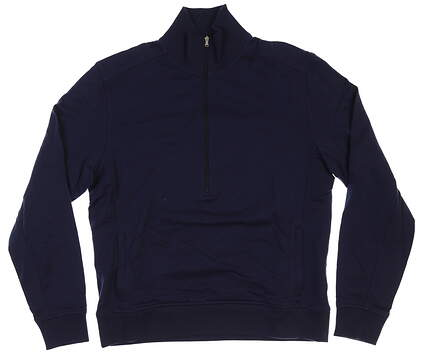 New Womens Straight Down Golf 1/2 Zip Pullover Large L Navy Blue MSRP $98 0445921