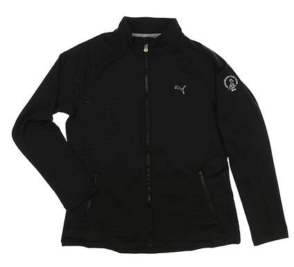 New Womens Puma Full Zip Mock Neck X-Large XL Black MSRP $80 567009 02