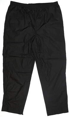 New Mens Sun Mountain Golf Rain Pants XX-Large XXL Black MSRP $149