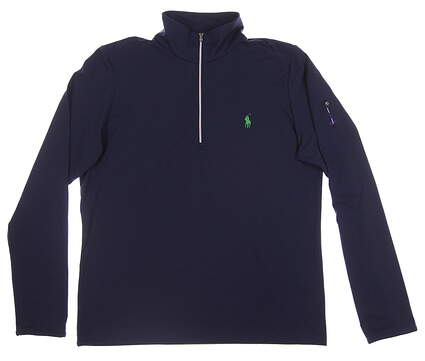 New W/ Logo Womens Ralph Lauren 1/2 Zip Golf Pullover X-Large XL Navy Blue MSRP $140