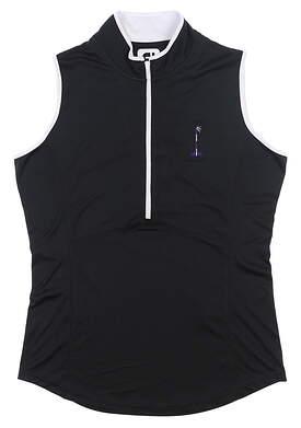 New W/ Logo Womens Footjoy Golf Vest Small S Black MSRP $150