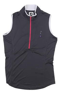 New W/ Logo Womens Footjoy Sleeveless Golf Polo Medium M Charcoal MSRP $110