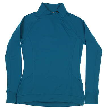 New Womens Puma Brisk 1/4 Zip Pullover Small S Caribbean Sea MSRP $75 577936 05
