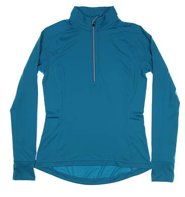New Womens Puma Proven 1/4 Zip Pullover Small S Caribbean MSRP $70 577943 05