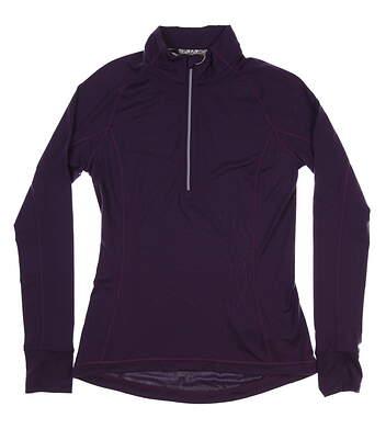 New Womens Puma Proven 1/4 Zip Pullover Small S Indigo MSRP $70 577943 07
