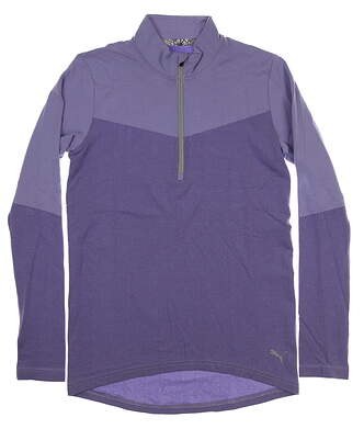New Womens Puma Evoknit 1/4 Zip Pullover Small S Sweet Lavender Heather MSRP $75 577939 05