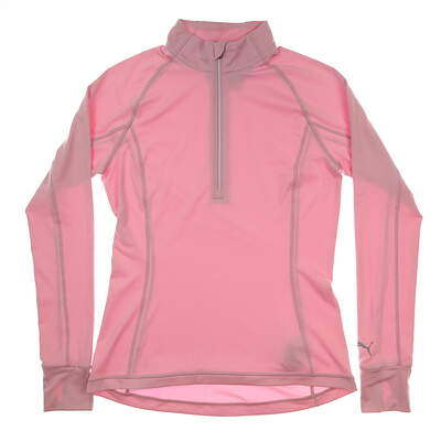 New Womens Puma Proven 1/4 Zip Pullover Small S Pale Pink MSRP $70 577943 06