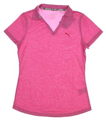 New Womens Puma Softest Polo Small S Fushsia Purple Heather MSRP $55 577926 02