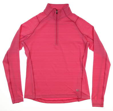 New Womens Straight Down 1/2 Zip Pullover Small S Pink MSRP $65 W14202