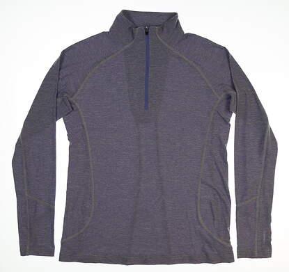 New Womens Straight Down Golf 1/4 Zip Pullover Medium M Purple MSRP $65 W142419