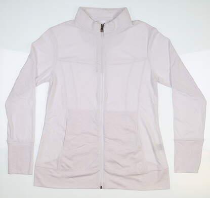 New Womens Straight Down Golf Jacket Medium M White MSRP $65