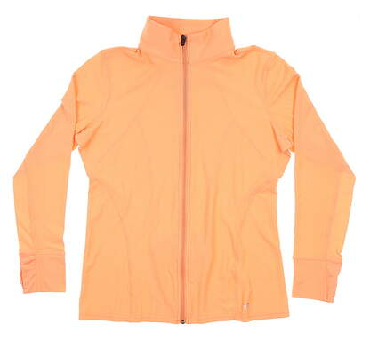 New Womens Straight Down Golf Jacket Medium M Orange MSRP $65