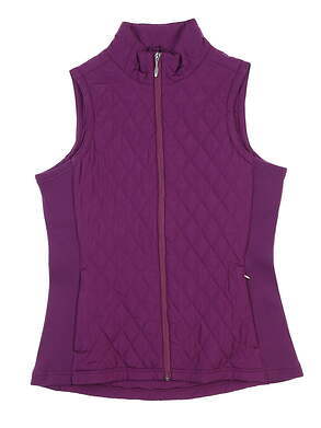 New Womens Straight Down Golf Vest Medium M Plum MSRP $85