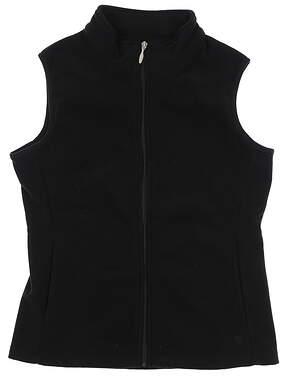 New Womens Straight Down Golf Vest Medium M Black W10137 MSRP $85