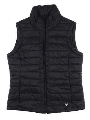 New Womens Straight Down Golf Vest Medium M Black MSRP $102