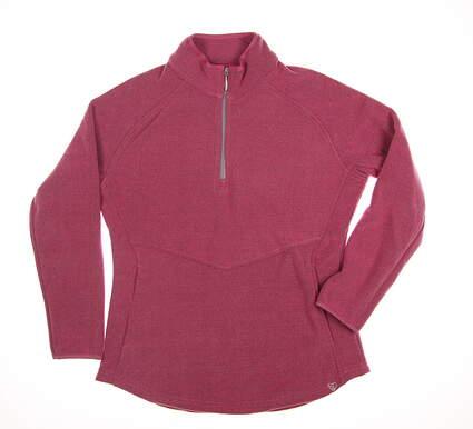 New Womens Straight Down 1/4 Zip Golf Sweater Medium M Pink MSRP $95