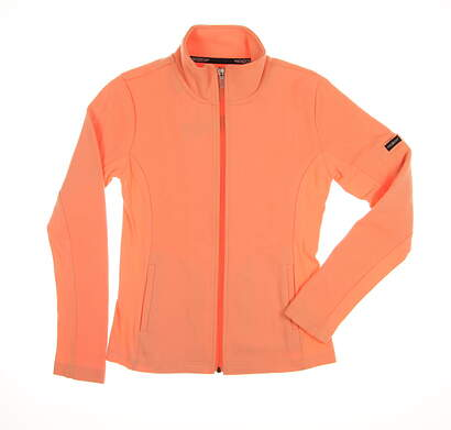 New Womens Straight Down Golf Jacket Small S Orange MSRP $94