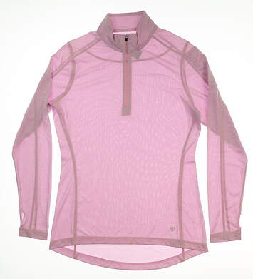 New Womens Straight Down Golf 1/4 Zip Pullover Small S Purple MSRP $65 W14210