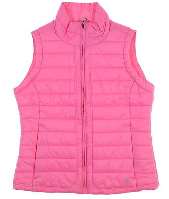 New Womens Straight Down Puffer Vest Small S Pink MSRP $102 W10142