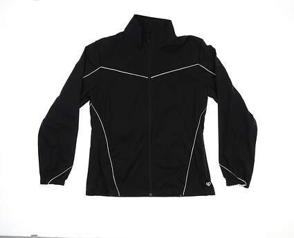 New Womens Straight Down Jacket Medium M Black W60281 MSRP $130