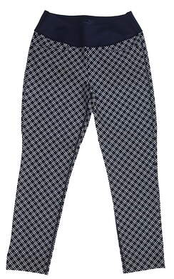 New Womens Puma PWRSHAPE Checker Pant Size Small S Peacoat MSRP $85 577955 01