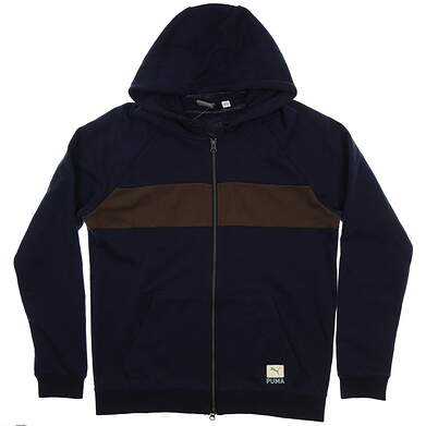 New Mens Puma On Shore Hoodie Medium M Peacoat MSRP $75 578865 02