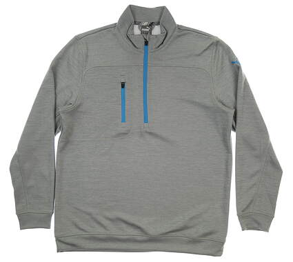 New Mens Puma Go Low 1/4 Zip Pullover Medium M Quarry Heather MSRP $75 577899 01