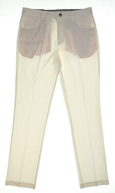 New Mens Puma 5 Pocket Pants 32x32 Bright White MSRP $85 577975 02