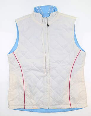 New Womens SUNICE Golf Vest X-Large XL White ND4683 MSRP $80