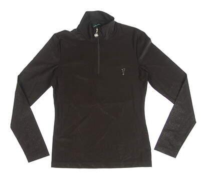 New Womens Golfino Golf 1/4 Zip Pullover X-Small XS Brown Snakeskin Print MSRP $139 5232124