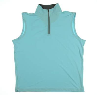 New Mens Peter Millar Golf Vest Medium M Blue MSRP $100