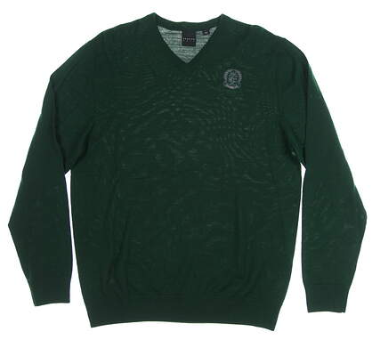 New W/ Logo Mens Dunning Golf Sweater Large L Green MSRP $99