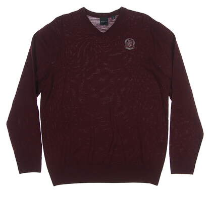 New W/ Logo Mens Dunning Golf Sweater Large L Maroon MSRP $99