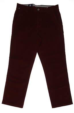 New Mens Cutter & Buck Corduroy Pants 36x32 Wine MSRP $100 MCB00025