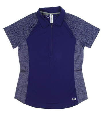 New Womens Under Armour Golf Polo Small S Purple MSRP $70