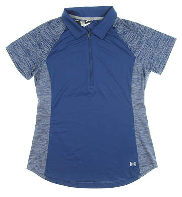 New Womens Under Armour Golf Polo Small S Blue MSRP $70