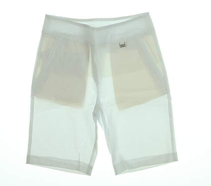 New Womens EP Pro Golf Shorts Size 8 White MSRP $84
