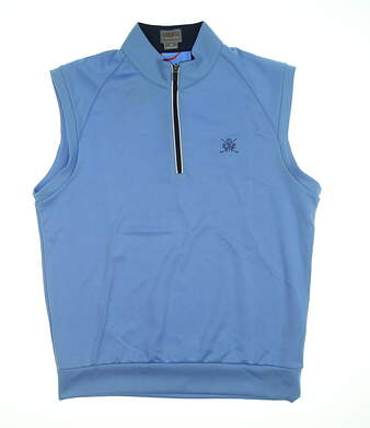 New W/ Logo Mens Fennec Vest Medium M Blue 171F200 MSRP $100