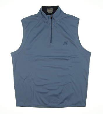 New W/ Logo Mens Fennec Vest Medium M Blue 162F111 MSRP $100