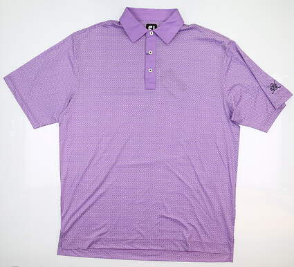 New W/ Logo Mens Footjoy Golf Polo Large L Purple 25503 MSRP $75