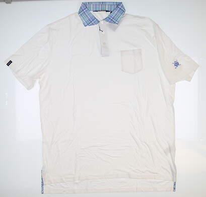 New W/ Logo Mens Ralph Lauren Golf Polo X-Large XL White MSRP $100