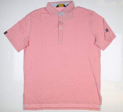 New W/ Logo Mens Ralph Lauren Golf Polo X-Large XL Pink MSRP $100