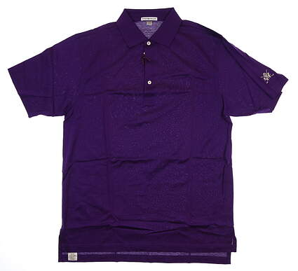 New W/ Logo Mens Peter Millar Golf Polo Medium M Purple MF15K01 MSRP $94